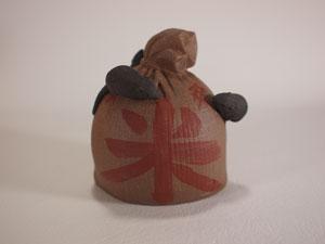 紫砂茶玩 ネズミと米袋